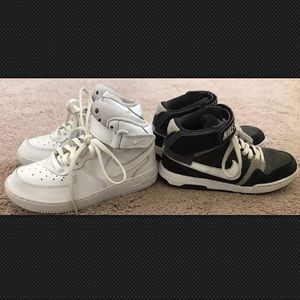 Nike Shoes - (2) Nike SB & Air Force Lot Shoes Youth Size 1